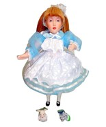 Danbury Mint Storybook Alice in Wonderland Porcelain Doll White Rabbit C... - $16.95