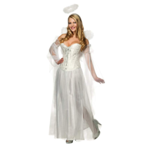 Rubies Secret Wishes Deluxe Angel Costume With Corset, White, Medium Sex... - $27.81