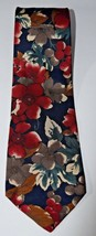 Don Loper Tie Necktie Beverly Hills Vintage Blue Floral Mens 100% Italia... - $19.79