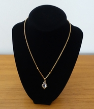 ALEXIS BITTAR MISS HAVISHAM CRYSTAL LIQUID Y PENDANT NECKLACE IN GOLD CO... - $47.99