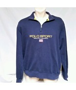 VTG Ralph Lauren Polo Sport Sweatshirt 90s Jumper Bear USA Crest Stadium... - $69.99