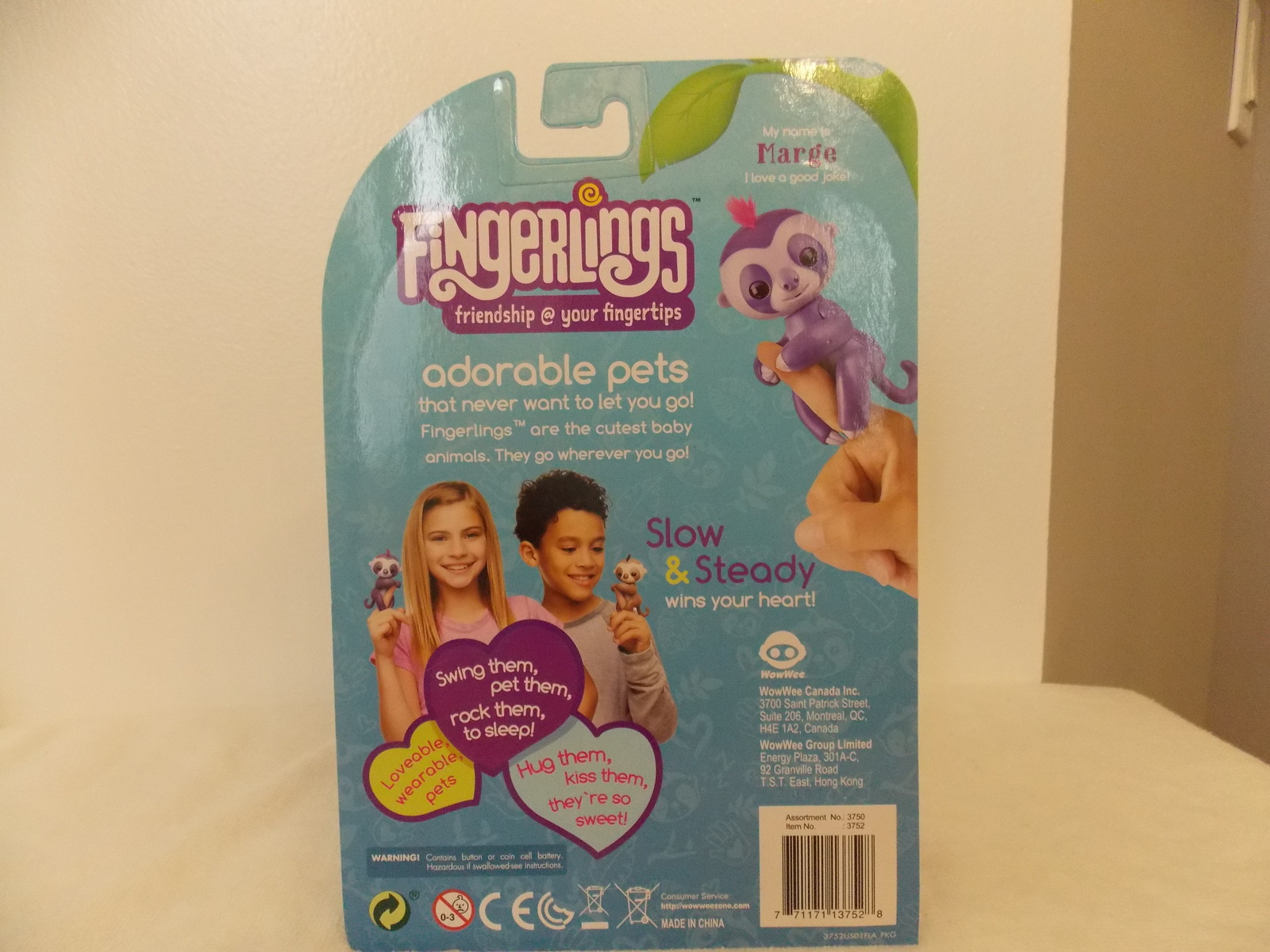 Fingerlings Marge Interactive Baby Sloth  image 3