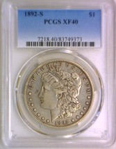 1892-S Morgan Dollar PCGS XF-40; Nice Original - $346.49
