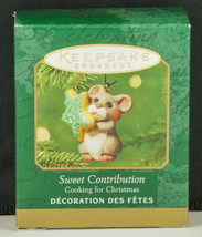Hallmark Ornament SWEET CONTRIBUTION Cooking for Christmas Miniature NIB... - $11.95