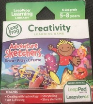 LeapFrog Explorer Adventure Sketchers CREATIVITY Learning Game Draw Play... - $11.87