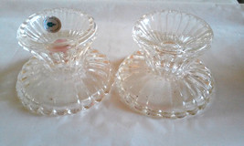 Partylite Scalloped Glass Candle Holders  for Votive Taper Tealights or ... - $3.80