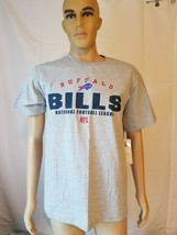 Buffalo Bills Spellout Tee Shirt Gray NWT New NFL Team Apparel Adult Medium - $32.49