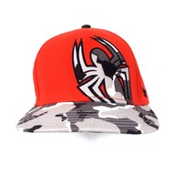 Under Armour SPIDERMAN Mens Red/Gray/White Camo Fitted Cap Hat Large Rare - $24.74