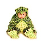 Underwraps Costumes Baby's Turtle Costume Jumpsuit, Green/Yellow, X-Larg... - $33.35