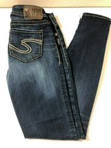 SILVER Suki Mid Super Skinny Stretch Denim Jeans Womens Size 25/31 - $27.50