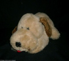 "10"" VINTAGE 1983 ENESCO TAN BROWN LAYING PUPPY DOG STUFFED ANIMAL PLUSH ... - $32.73"