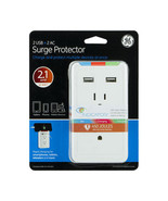 GE 2 USB + 2 AC Surge Protector with Eye Indicator Technology (White) - $19.78