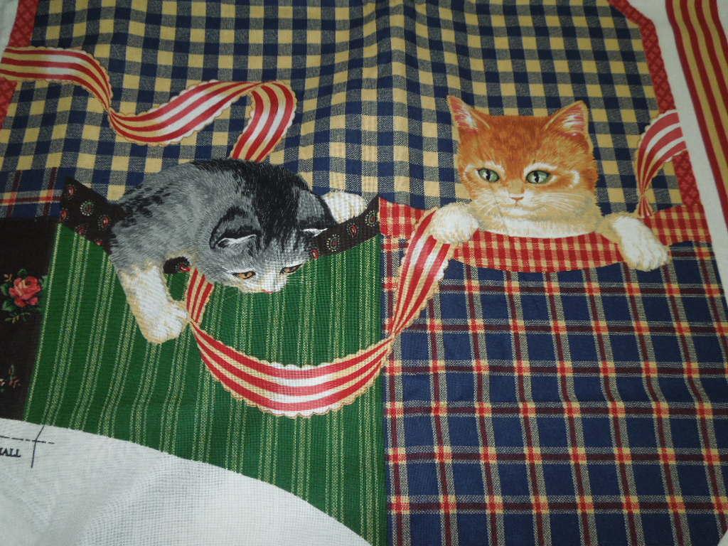 FABRIC PANEL VEST  CATS 100% COTTON  CRAFTS OUT OF PRINT UNCUT