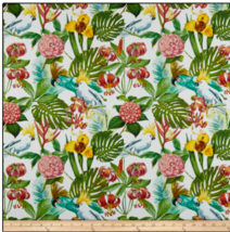 BTY Windham Tropical Bird in PARADISE on Wh Print 100% Cotton Quilt Fabr... - $10.00