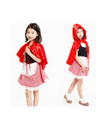 halloween kids Cute  fancy dress little red riding hood costume CO401171... - $725,54 MXN