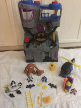 Fisher Price Imaginext Batman Bat Cave Penguin Joker Copter Mud Monster Lot - $98.99