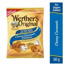 6x Werther's Original No Sugar Added Chewy Caramels Candy 60g Canada FRESH  - $43.81