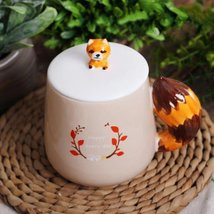 Lovely Animal Peach Fox Mugs Creative Ceramic Tea Coffee Milk Cup - $34.94