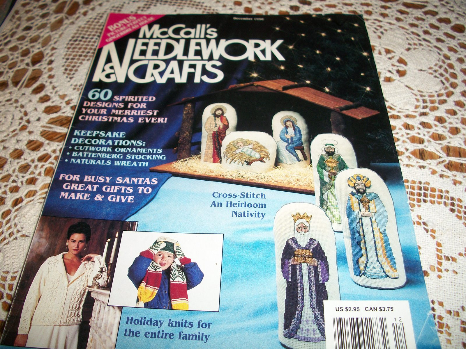 McCall's Needlework & Crafts Magazine December 1990 - $18.00