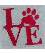 LOVE PAW Red Pet Car Vinyl Sticker Car Window Decal Shipped from USA - $4.90