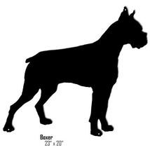 Boxer Black Laser Cut Out Reproduction Sign 20x23 - $25.74