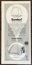 1977 Eureka Tents Print Ad The Aleutian All Weather Igloo - $8.95