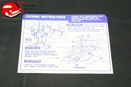 67-68 Camaro Convertible W/ Space Saver Tire Jack Instructions Decal GM#3919193 - $999.99