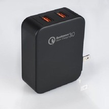 Blackweb 3.0 USB Wall Charger Dual Port Quick Charger for Samsung, LG & More New - $25.00