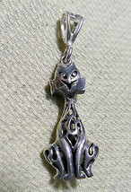 """925 STERLING SILVER BALI  CAT PENDANT 1 5/8 """" HALLMARKED  IN THE UK - $39.19"""