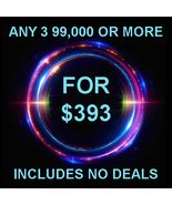 THROUGH SUN PICK 3 $90,000 OR MORE FOR $393 INCLUDES NO DEALS MYSTICAL T... - $0.00