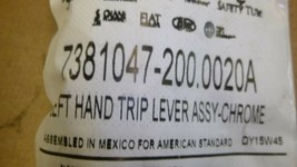 AMERICAN STANDARD 7381047-200.0020A Trip Lever, Toilet, Metal, Chrome - $35.00