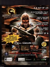 Original 2005 Print Ad Mortal Kombat Deception Video Game Advertisement - $7.59