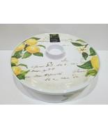"Nicole Miller Farmhouse Tuscan Lemon Tortilla Warmer Holder With Lid 9"" - $27.71"