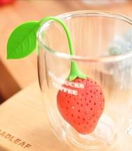 Lovely Silicone Strawberry Tea Infuser teabag kettle Loose Tea leaf Stra... - $6.66