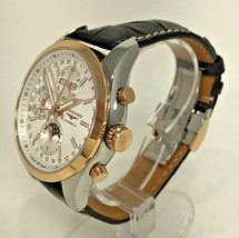 Longines Conquest Chronograph Automatic White Dial Brown Leather Men's Watch - $2,573.95