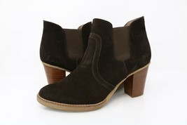 Gap Womens Ankle Boots Booties Brown Block Heel Pull On Stretch Footwear 8 M - $26.99