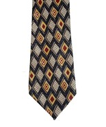 Pendleton Meeting Street 100% Silk Gray Red Tan Diamond Print Long Mens ... - $19.79