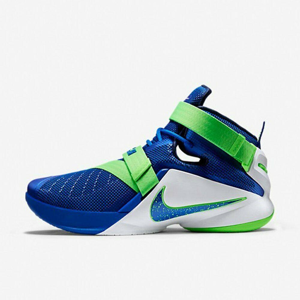 Nike Lebron IX 9 Soldier Sprite Game Blue/Green 749417-601 Mens Basketball image 2
