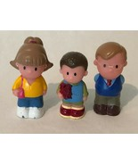 "Lot of 3 Vintage Plastic Dollhouse Family 3"" Doll House Figures Dad Mom ... - $9.99"