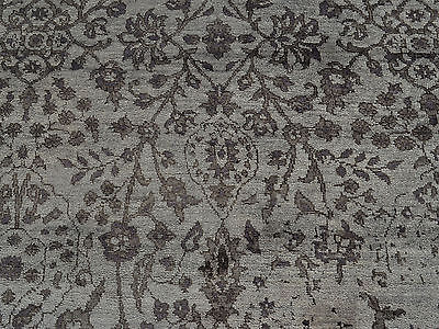6 X 9 Hand Knotted Silver Gray Fine Bamboo Silk Oriental Rug G18662