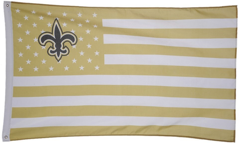 NFL New Orleans Saints Stars & Stripes 3'x5' Indoor/Outdoor Team Nation Flag GB