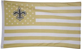 NFL New Orleans Saints Stars & Stripes 3'x5' Indoor/Outdoor Team Nation ... - $9.99