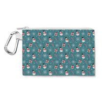 Snowmen and Candy Canes Canvas Zip Pouch - $15.99+