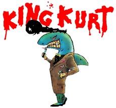 King Kurt Mack the Knife shaped vinyl Self Cling Window sticker 120x112mm  - $3.75