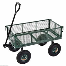 Sandusky Heavy-Duty Jumbo Utility Garden Wagon Cart Steel Hauling Rugged... - $92.04