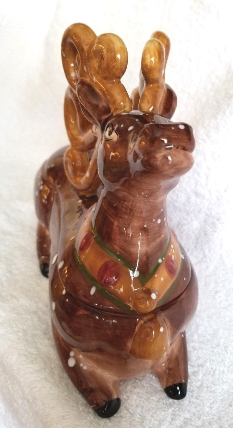 WINTER WONDERLAND Reindeer Tabletops Unlimited Candy Dish Figural AWESOME