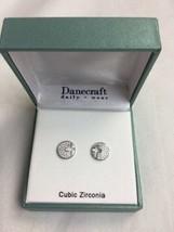 NEW Danecraft Earrings SET Cross Cut Out Cubic Zirconium - $14.00