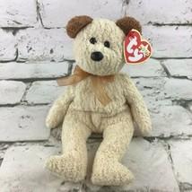 Ty Beanie Babies Huggy Plush Light Tan Terrycloth Teddy Bear Stuffed Ani... - $9.89