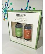 Scentuals 100% Natural Beauty Oil Duo Argan Vitamin E New 2 fl oz each - $24.18