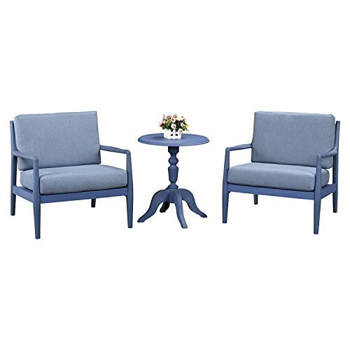 3 Piece Bistro Sofa Set by Island Gale| Outdoor Patio Dining Table Set for 2 wit